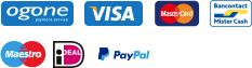 Ogone, Visa, Mastercard, bancontact, Maestro, IDeal,Paypal